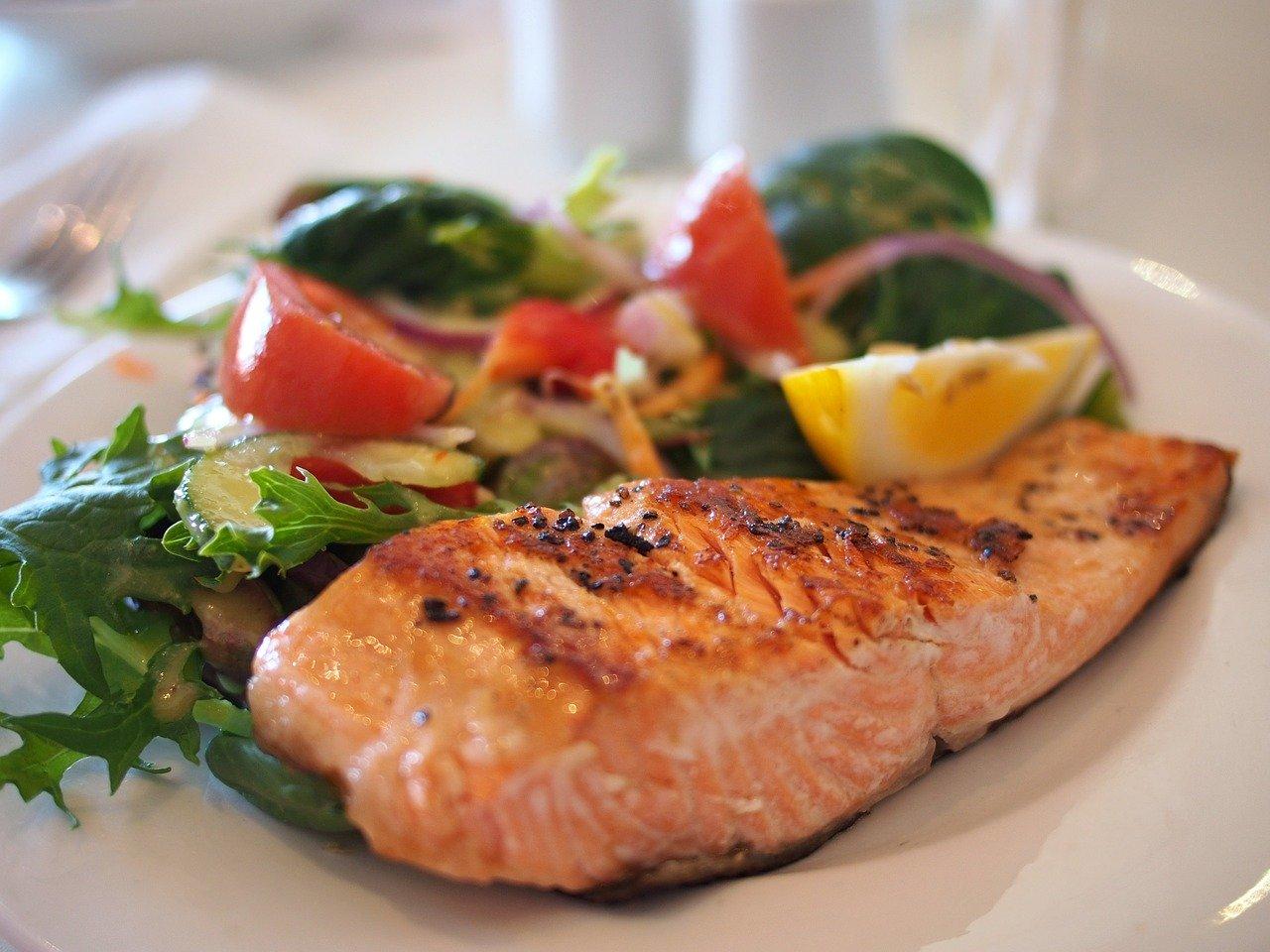 Assiette de saumon